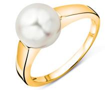 Damen-Ring 9 Karat 375 Gelbgold Süßwasser Zuchtperle 8.5mm große 54(17.2) USP040RYO