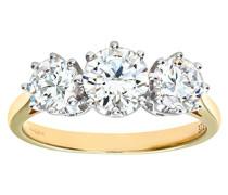 Damen-Ring 375 Gelbgold 9 K Zirkonia PR05339Y CZ-I