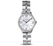 Certina Damen-Armbanduhr XS Analog Quarz Edelstahl C021.210.61.116.00