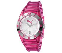 Damen-Armbanduhr Disc Injection - S Translucent Pink Analog Quarz Plastik PU910662002