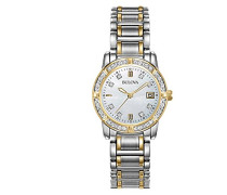 Bulova Damen-Armbanduhr Analog Quarz Edelstahl beschichtet 98R107