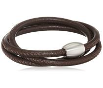 Damen-Armband 3 fach gewickelt Edelstahl Leder 59.0 cm - 51603112G2