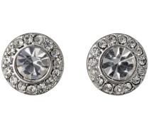 Jewelry Damen-Ohrstecker Messing  Damen-Ohrstecker aus der Serie Classic versilbert,weiß 0.9 cm 601336063