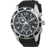 Nautica Herren-Armbanduhr XL Analog Quarz Silikon A15102G