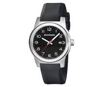 WENGER Herren-Armbanduhr SPORT DYNAMIC FIELD COLOR Analog Quarz Silikon 01.0441.144