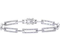 Damen-Armband 375 Weißgold rhodiniert Diamant 0,33 ct weiß Rundschliff 1,85 cm PBC02187W