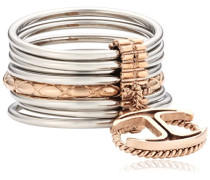 Damen-Ring Edelstahl Kristall Infinity pink SCHX17016