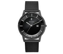 Herren-Armbanduhr Analog Edelstahl schwarz 264C338