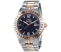 Herren-Armbanduhr VITTORIA Analog Quarz Edelstahl beschichtet CRA120STR03MRT