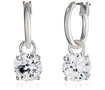 soziale Datum und Ohrringe Silber Kristall, Ton