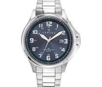 –616375–Zeigt Herren-Armbanduhr 10510262Analog Stahl Silber