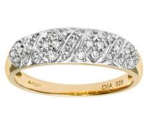 Damen-Ring 9 Karat (375) Bicolor