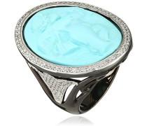 Damen-Ring Zirkonia Transparent Ovalschliff - Größe 58 (18.5)