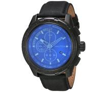 Herren-Armbanduhr Chronograph Quarz Leder NAI21504G