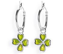Damen- Ohring Einhänger Style und Go für Creolen Kleeblatt 925 Silber Brandlack LD MR 50