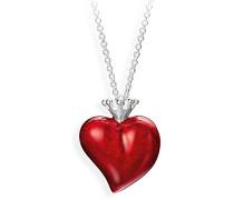 Damen- Anhänger Crown of my Heart Herzanhänger 925 Silber Emaille LD LP 31 RM- II