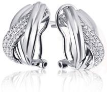 Goldmaid Damen-Ohrhänger 925 Sterling Silber Classic Dream 70 weiße Zirkonia Pa O6113S