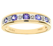 Damen-Ring 9 K 375 Gelbgold Diamant