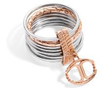 Damen-Ring Edelstahl Kristall Infinity pink SCHX17014