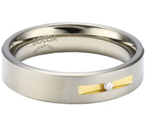 Damen-Ring Titan Bicolor 1 Brilliant 0,03 ct Gr.54 0101-0854