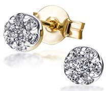 Damen-Ohrstecker Glamour 585 Gelbgold 14 Diamanten 0,25ct Ohrringe Brillanten Schmuck