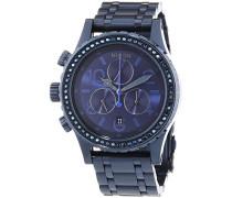 Damen-Armbanduhr 38-20 Chrono All Deep Blue Crystal Chronograph Quarz Edelstahl A4041880-00