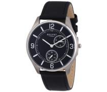 Herren-Armbanduhr XL Analog Quarz Leder 11190146