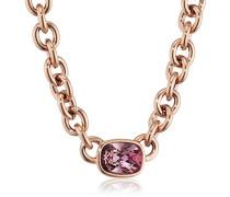 Damen-Kette ohne Anhänger 15/02 Elisa Rg Ant Rose Messing teilvergoldet Kristall pink 5.7 cm - 337641
