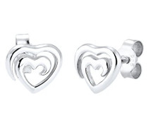 Damen Ohrstecker Herz 925 Sterling Silber 0308710216