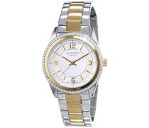 Regent Damen-Armbanduhr XS Analog Quarz Edelstahl beschichtet 12230615