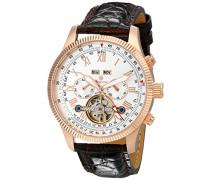 Armbanduhr für Herren mit Analog Anzeige, Automatik-Uhr und Lederarmband - Wasserdichte Herrenuhr mit zeitlosem, schickem Design - klassische Uhr für Männer - BM330-315 Malabo