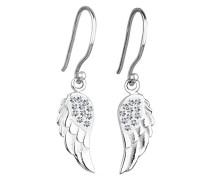 Damen Ohrhänger Flügel 925 Sterling Silber Swarovski Kristall weiß Brillantschliff 301820512