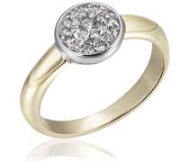 Damen-Ring Glamour Bicolor 585 Gold 22 Diamanten 0,25 ct.