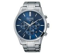 Pulsar Herren-Armbanduhr Chronograph Quarz Edelstahl PT3777X1