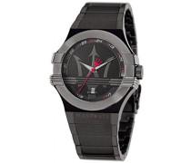 Maserati Herren-Armbanduhr XL Analog Quarz Edelstahl beschichtet R8853108003