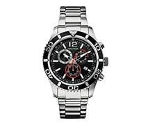 Nautica Herren-Armbanduhr XL Analog Quarz Edelstahl A16666G