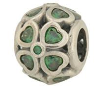 Damen-Bead Glückskleeblätter 925 Silber Zirkonia grün - 791496CZN