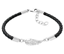 Elli Damen-Strangarmband Flügel Leder 925 Sterling Silber 0211211511_18