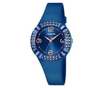Calypso Damen Quarzuhr mit Blau Zifferblatt Analog Display und Blau Kunststoff Gurt k5659/6