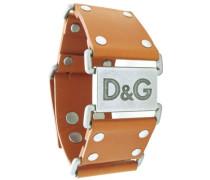 D &G-DJ0369 Damen-Armband Leder braun