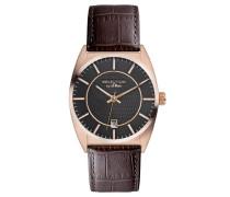 s.Oliver Herren-Armbanduhr XL Analog Quarz Leder SO-2653-LQ