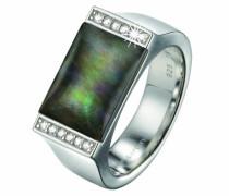 Damen-Ring 925 Sterling Silber rhodiniert Kristall Zirkonia Crépuscule weiß