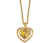 Damen Halskette 925 Sterling Silber rhodiniert Glas Zirkonia Le Coeur Brillant 42 cm mehrfarbig S.PCNL90457C420