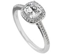 Diamonfire Damen-Ring Signatures 925 Silber rhodiniert Brillantschliff weiß Zirkonia Gr. 55 (17.5) - 61/1505/1/082 903