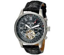 Armbanduhr für Herren mit Analog Anzeige, Automatik-Uhr und Lederarmband - Wasserdichte Herrenuhr mit zeitlosem, schickem Design - klassische Uhr für Männer - BM330-122 Malabo