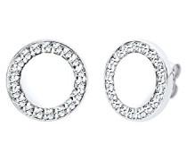 Damen-Ohrstecker Kristall 925 Sterling Silber Swarovski Kristall weiß Brillantschliff 309331313
