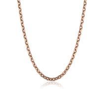 Damen-Ankerkette 4fach diamantiert rosé plated Stärke 2,35mm 925 Silber teilvergoldet 50 cm - ERNA-50-235R