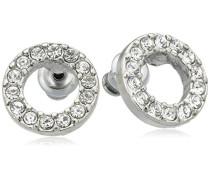 Jewelry Damen-Ohrstecker aus der Serie Classic versilbert weiß 1.0 cm 611316013