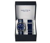 Herren-Armbanduhr Analog Quarz Textil NAI11509G