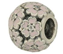 Damen-Bead Primelwiese 925 Silber Emaille Zirkonia weiß - 791488EN68